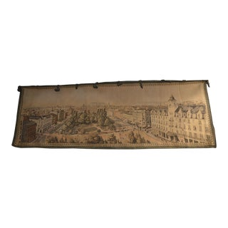 1800s Antique Flanders City of Oslo Figurative Tapestry, Signed ' For Sale