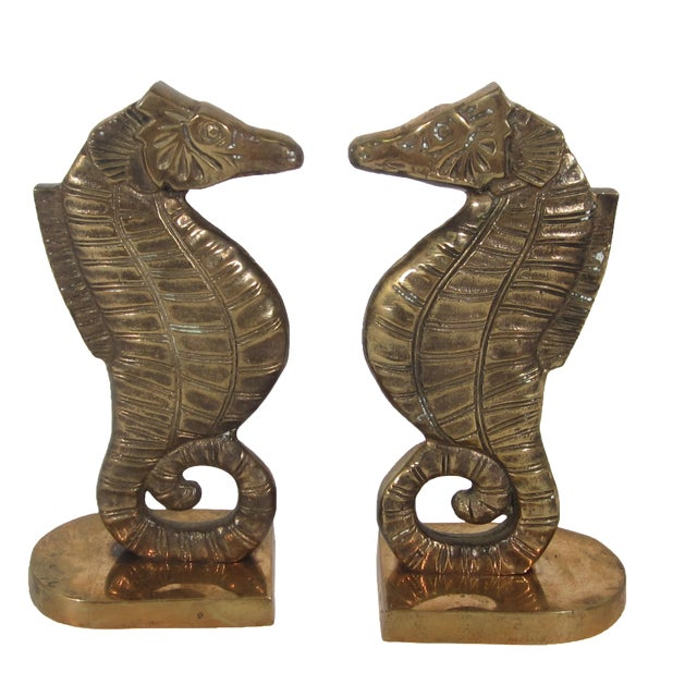 Brass Seahorse Bookends - Image 1 of 5