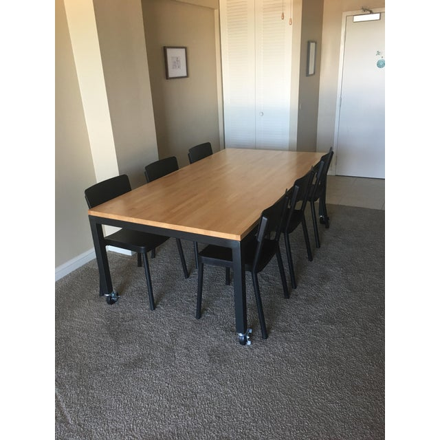 Room & Board Butcher Block Dining Room Table - Image 3 of 8