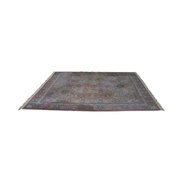 Karastan #717 Multi Panel Kirman Large Room Size Rug For Sale - Image 13 of 13