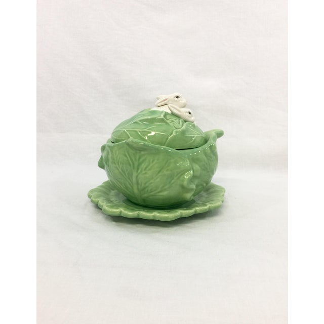 Rabbit & Cabbage Tureen & Under Plate For Sale - Image 10 of 10
