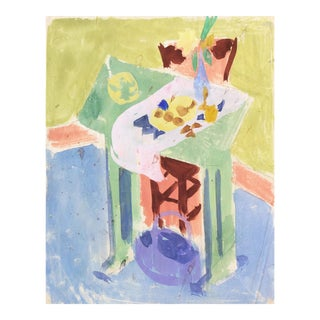 'Still Life With Daffodil and Lemons' by Victor Di Gesu; California Post-Impressionist, Louvre, Paris, Carmel, Los Angeles County Museum of Arts For Sale