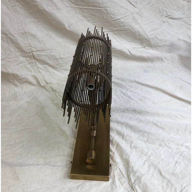 Hailey Wall Sconce by Mr. Brown London Aged brass rod wall sconce. Showroom sample. Light wear. Current Stock. Dimensions-...