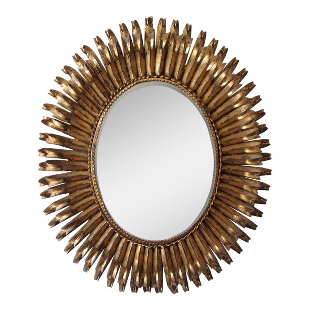 Italian Gilt Hollywood Regency Oval Mirror Attr. To S. Salvatore - Image 1 of 7