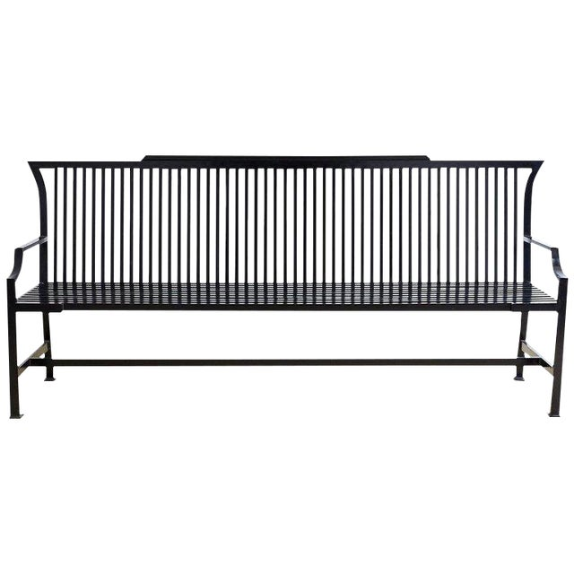 Contemporary Aluminum Park Bench or Settle For Sale