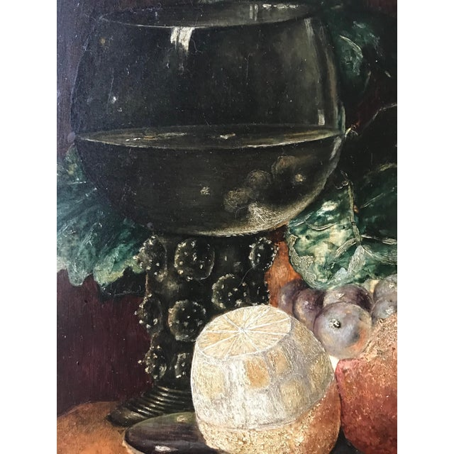 Wood 19th Century Still Life Painting After Pieter Claesz, Framed For Sale - Image 7 of 9