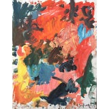 Image of 'Red Rover' Abstract Oil Painting by Sean Kratzert For Sale