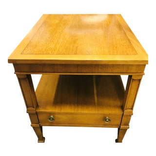 20th Century French Country Drexel Mahogany Side Table For Sale
