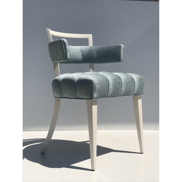 Set of Four Billy Haines Biscuit Tufted Side / Dining Chairs - Image 8 of 11