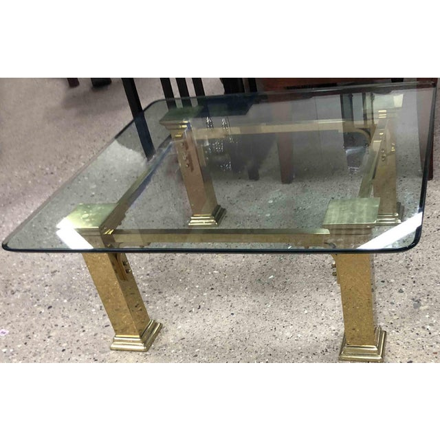 Art Deco 1960s Art Deco Style Solid Brass Coffee Table For Sale - Image 3 of 7
