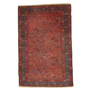 1920s Persian Lilihan Rug - 4′1″ × 6′4″ For Sale