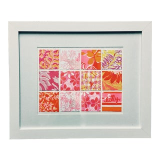 Lilly Pulitzer Framed Collage For Sale