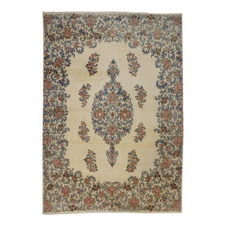 Antique Kerman Persian Rug with Traditional Style in Light Colors For Sale