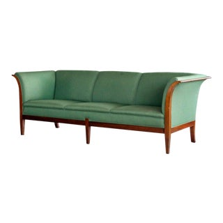Frits Henningsen Danish Mid-Century Modern Sofa in Cuban Mahogany For Sale
