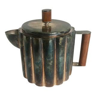 1920's Ilonka Karasz Art Deco Silver Plate Teapot For Sale
