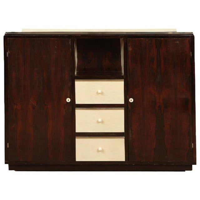 1940s 1940s French Palisander and Parchment Cabinet For Sale - Image 5 of 5