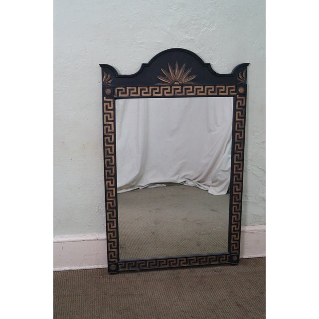 Vintage Hollywood Regency Greek Key Mirror For Sale - Image 9 of 10