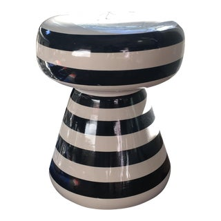Black and White Scott and Cooner Side Table For Sale