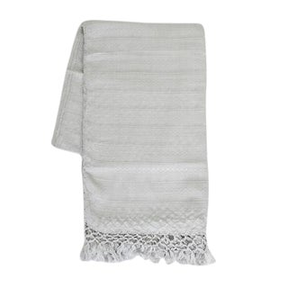 Guatemalan Dark Gray Silk Throw For Sale