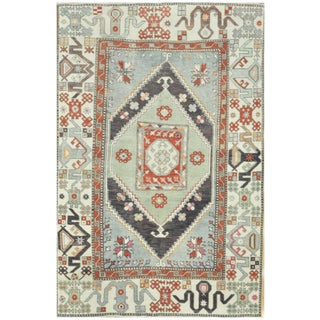 Surena Rugs Vintage Turkish Anatolian Tribal Rug - 5′ × 8′ For Sale