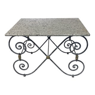 Vintage Granite Pastry Table For Sale