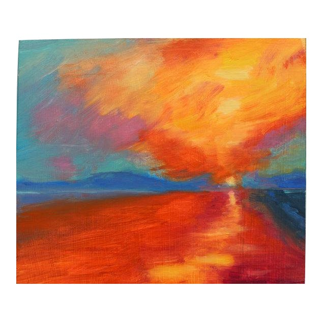 Sunset After Jmw Turner Oil Painting