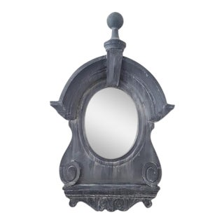 Sculptural Dormer Wall Mirror For Sale