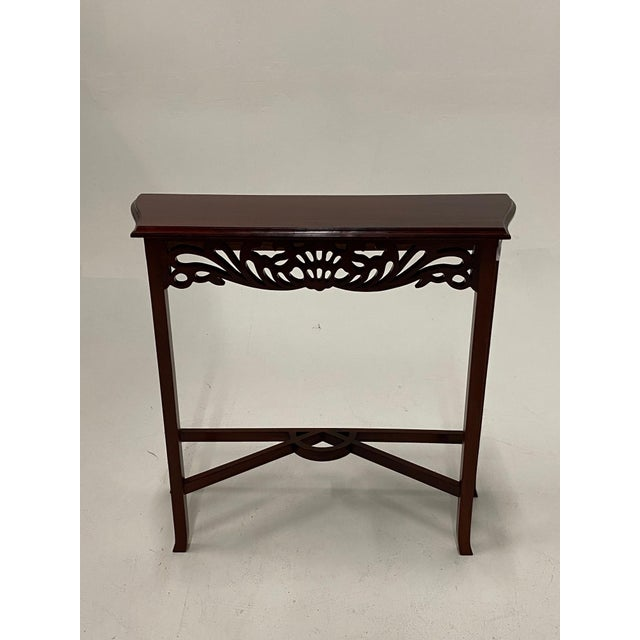 Carved Mahognay Console Table For Sale - Image 9 of 12