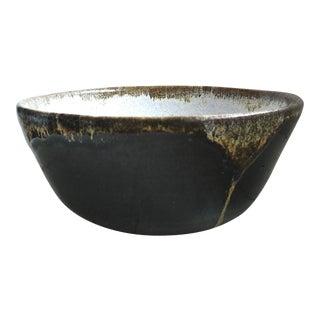 Black Pottery Bowl