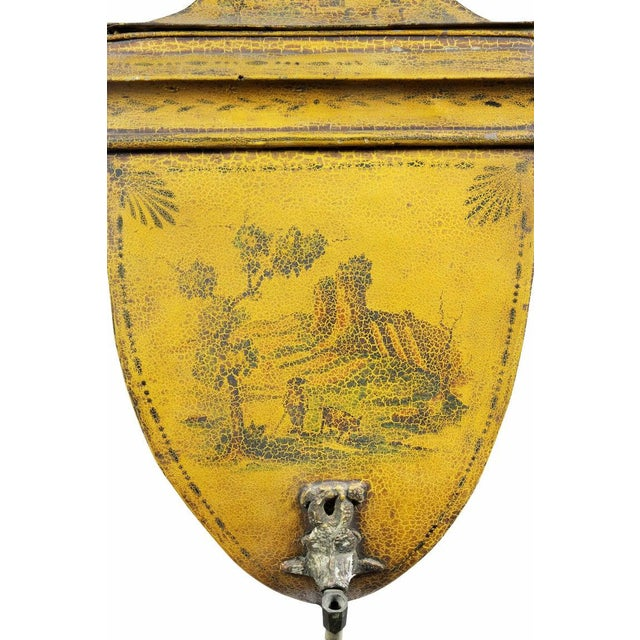 Early 19th Century French Empire Yellow Tole Lavabo For Sale - Image 5 of 7