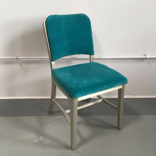 Emeco Vintage Velvet Dining Chairs - Set of 8 - Image 5 of 11