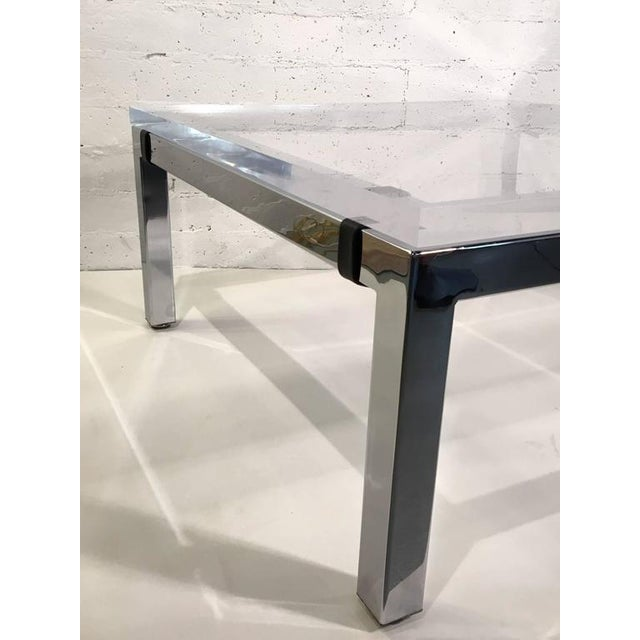 Acrylic and Chrome Cocktail Table by Charles Hollis Jones - Image 4 of 7