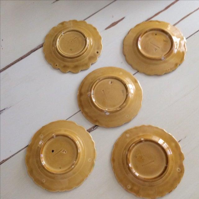 French Sarreguemines Majolica Plates - Set of 5 - Image 9 of 11
