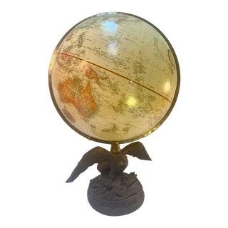 "Replogle 12"" World Classic Series Globe on Cast American Eagle Base For Sale"