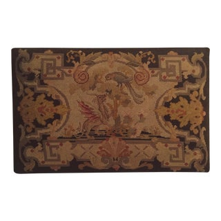 Georgian Needlepoint Upholstered Bench Cover/Wall Hanging For Sale