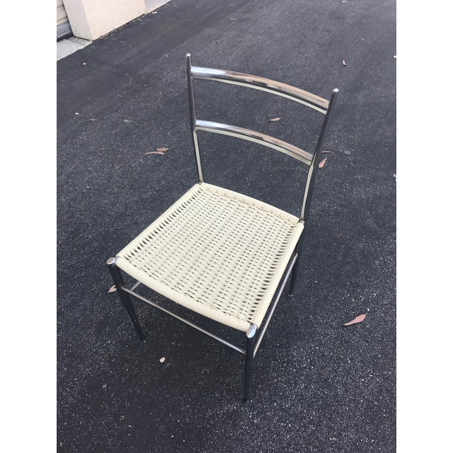1960s Vintage Gio Ponti Chrome Superleggera Chairs - Set of 4 For Sale In Los Angeles - Image 6 of 13