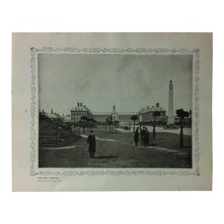 """1906 """"Chelsea Hospital"""" Famous View of London Print For Sale"""