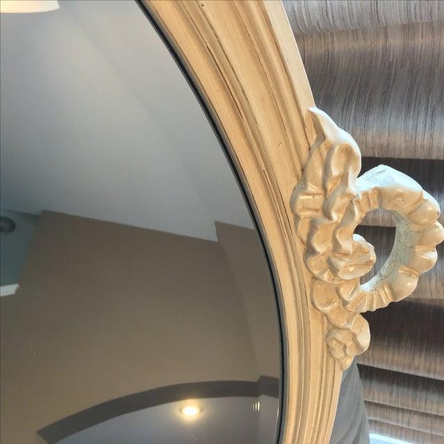 Mid-Century Modern Swedish Design Ethan Allen Beveled Oval Mirror For Sale - Image 3 of 5