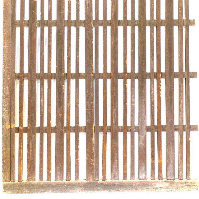 Japanese Machiya Cedar Exterior Panel/Screen For Sale In New York - Image 6 of 7