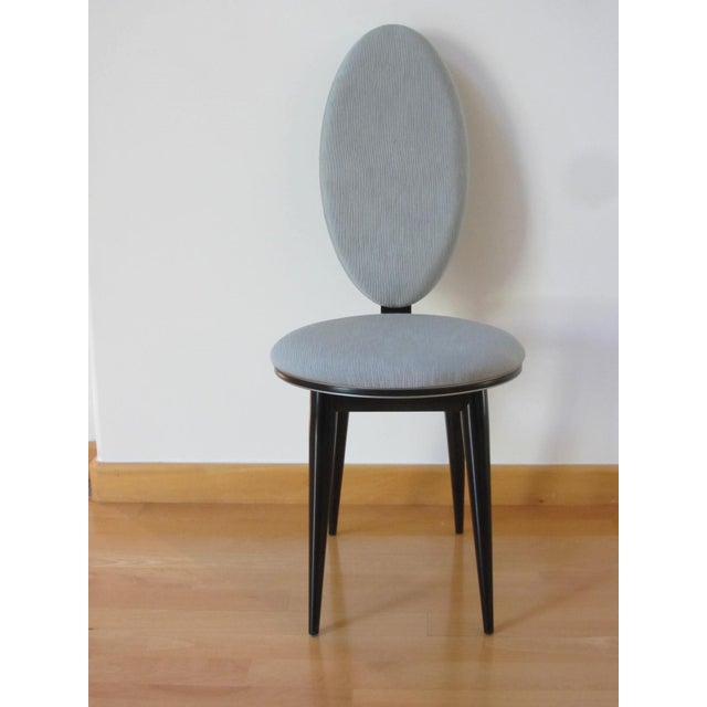 Art Deco Oval Back Lacquer Dining Chairs - 10 - Image 4 of 11