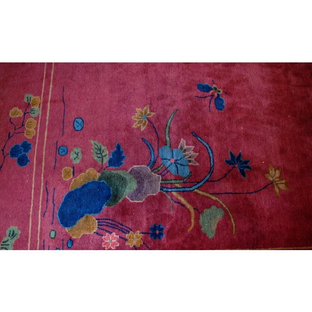 1920s Antique Art Deco Chinese Rug - 8′10″ × 11′8″ - Image 3 of 8