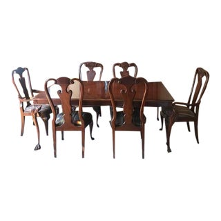 1980s Traditional Lexington Palmer Collection Mahogany Dining Set - 7 Pieces For Sale