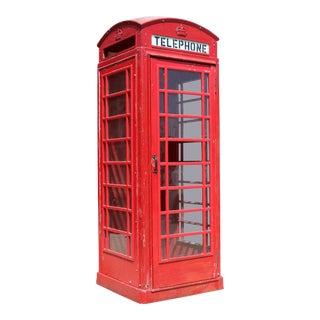 Metal Vintage London Lifesize Telephone Booth