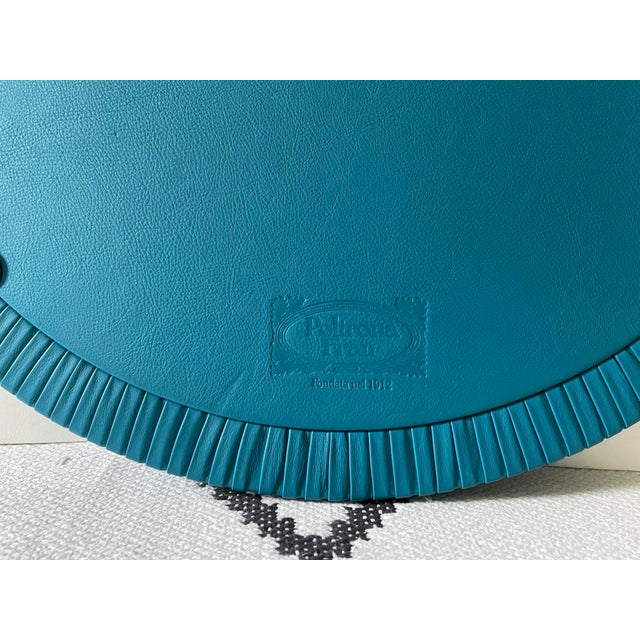 2010s Large Poltrona Frau Leather Mirror For Sale - Image 5 of 6