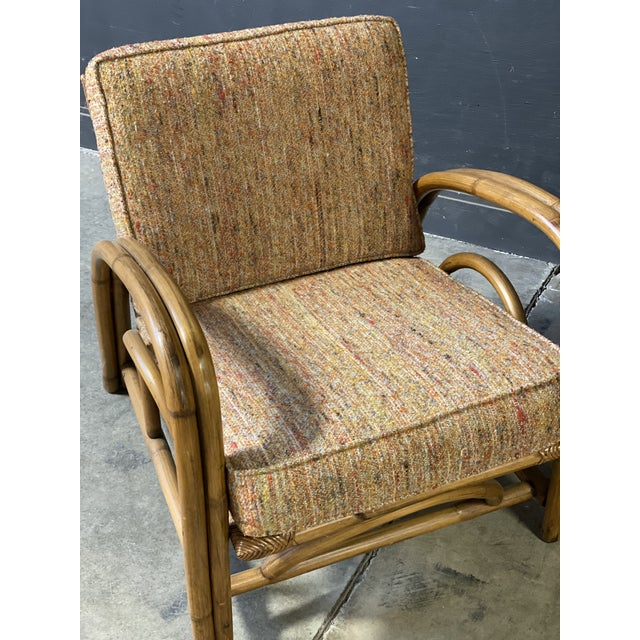 Vintage Paul Frankl Style Rattan Couch & Chairs For Sale In New York - Image 6 of 10