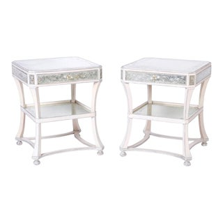 Italian Mirrored End Tables - A Pair For Sale