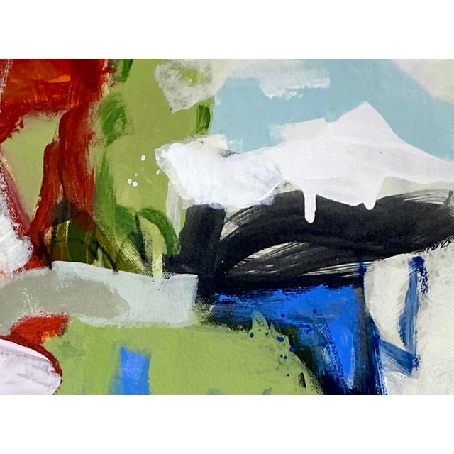 """""""She's Subtle, Like a Jet Plane"""" - Original Mixed Media Abstract Painting by Gina Cochran For Sale In Washington DC - Image 6 of 7"""