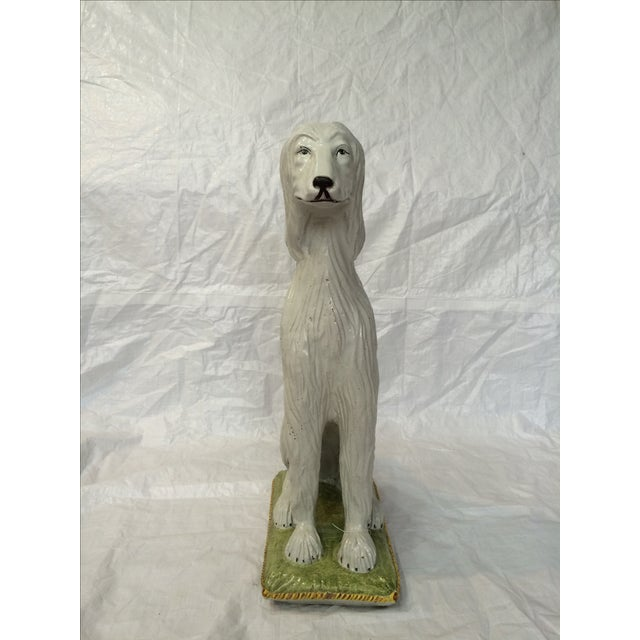 Italian Ceramic Afghan Hound Statue For Sale In Raleigh - Image 6 of 11