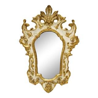 Florentine Italianate Giltwood Mirror For Sale