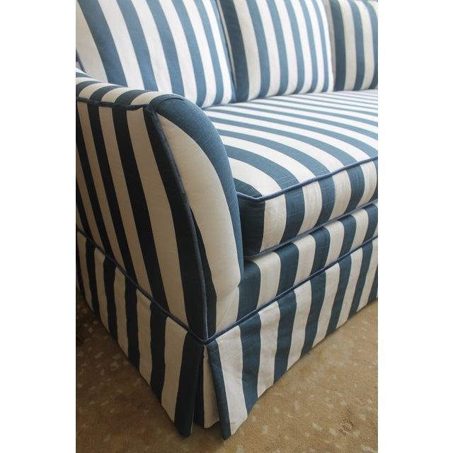 Lillian August Navy White Stripe Sofa - Image 4 of 6